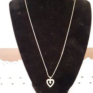 Heart Pendant Necklace - Used